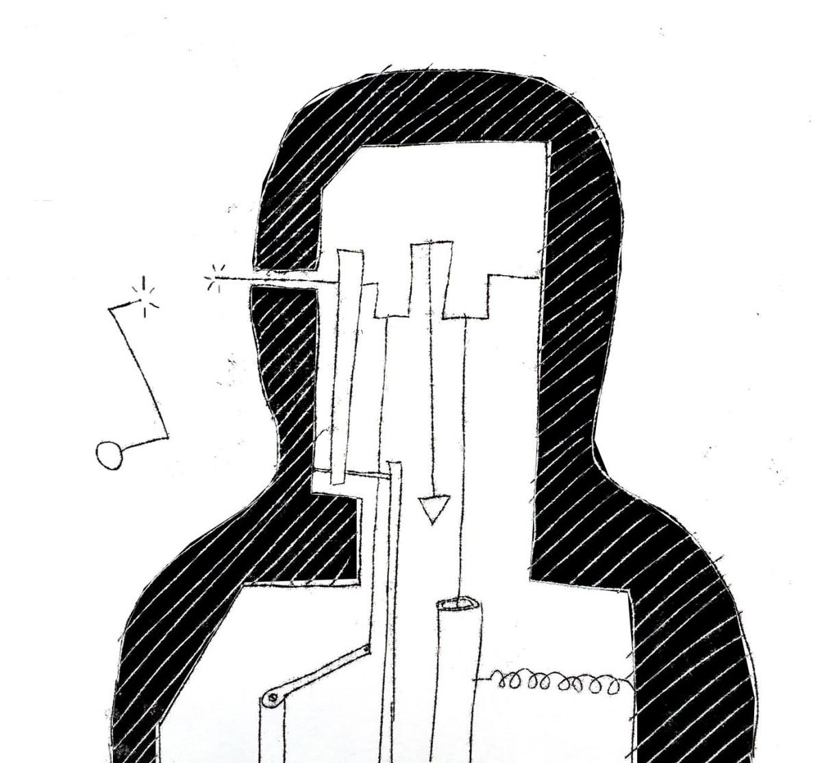 Symulator mózgowy, rys. Piotr Petarda