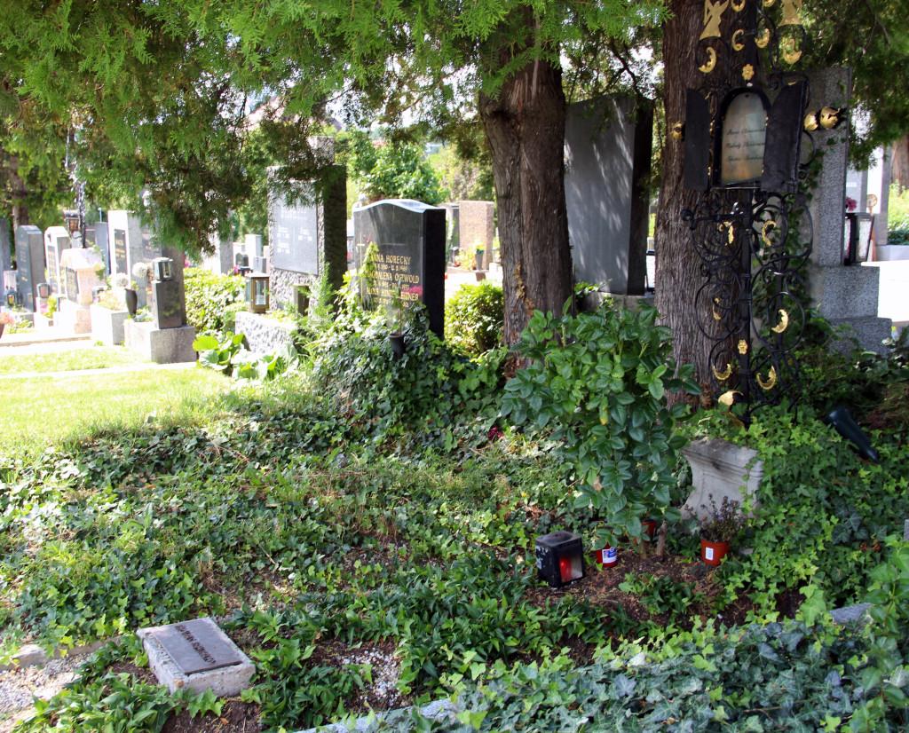 Thomas Bernhard jest pochowany w wiedeńskim Grinzingu, obok swojej mecenaski, Hedvig Stavianicek i jej męża, fot. Grażyna Smalej