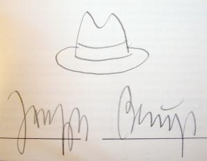 podpis Josepha Beuysa ojca konceptualizmu