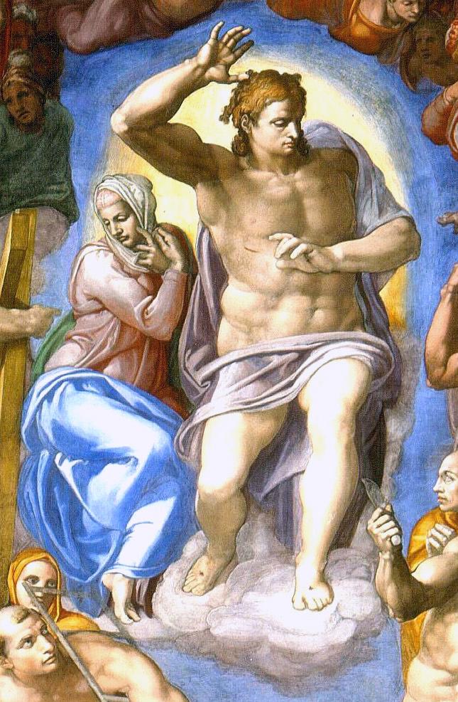 Michelangelo Buonarroti, Sąd ostateczny, fragment