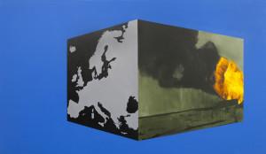 Wiktor_Dyndo_CLOUD_03_EUROPA_110 x 190 cm_olej plotno_2016