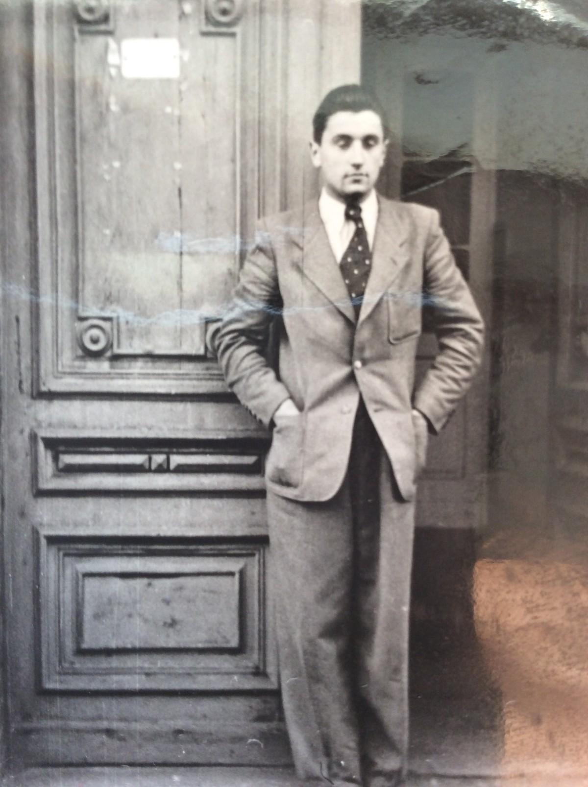 Lech Dobrowolski, ojciec autora, rok 1946. Archiwum rodzinne