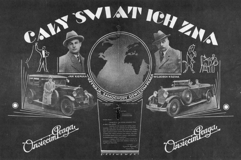 reklama samochodu Oświęcim-Praga ze zbiorów Mirosława Ganobisa
