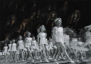 "Agata Kus, ""Hounds of love"", olej na płótnie, 140 x 200 cm, 2014"