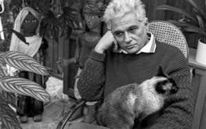 Jacques Derrida z kotem
