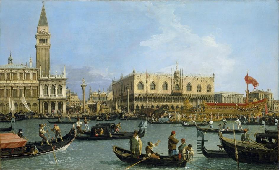 San Marcos el día de la Ascensión. Canaletto.