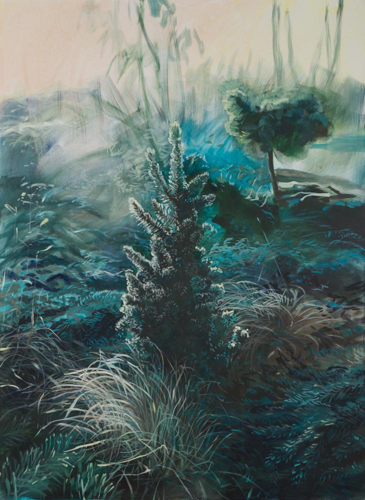 Grażyna Smalej, Ogród, 150x110 cm, olej na płótnie, 2015