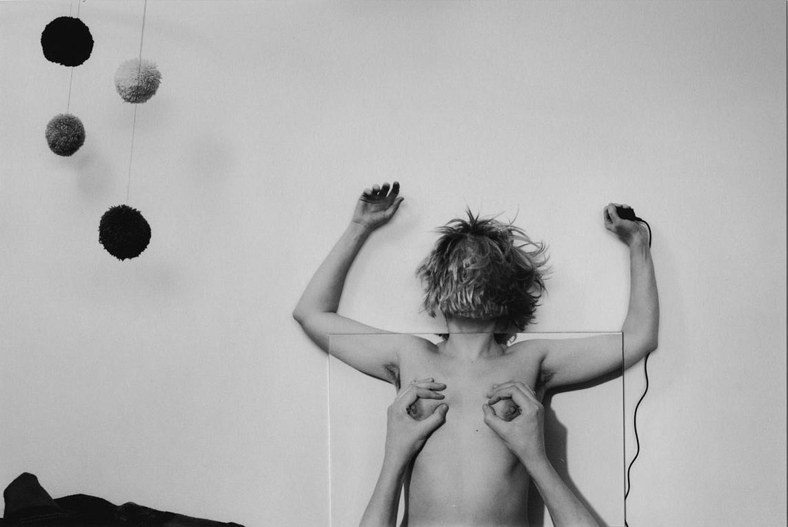 """Aneta Grzeszykowska, """"Halina #04"""", 2016,kolaż z wydruków tuszem pigmentowym na papierze bawełnianym, 30 x 45 cm. Praca zrealizowana w ramach projektu """"Długie życie fotografii"""" dla Fundacji Archeologia Fotografii."""