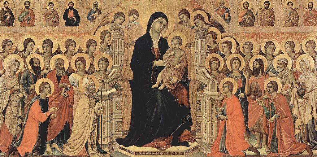 """Duccio di Buoninsegna, """"Majestat"""", 1308-11, via Wikimedia Commons"""
