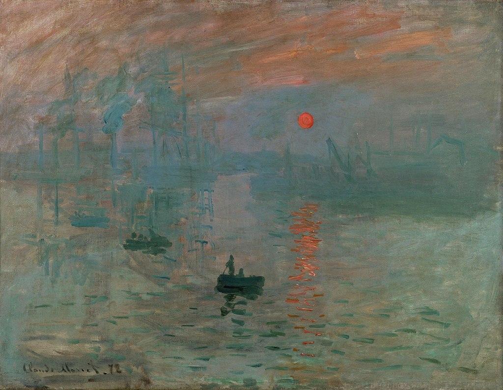 Claude Monet, Impresja (wschód słońca), 1872, via Wikimedia Commons