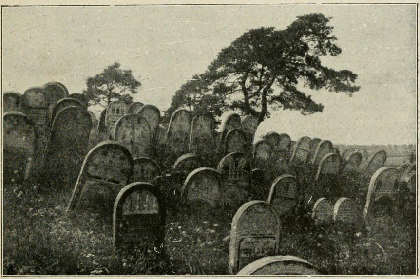 Kirkut w Gritze 1923 r., Arthur Levy, via Wikimedia Commons