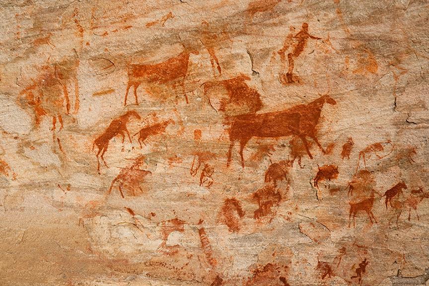 Malowidła jaskiniowe znalezione w Afryce Południowej