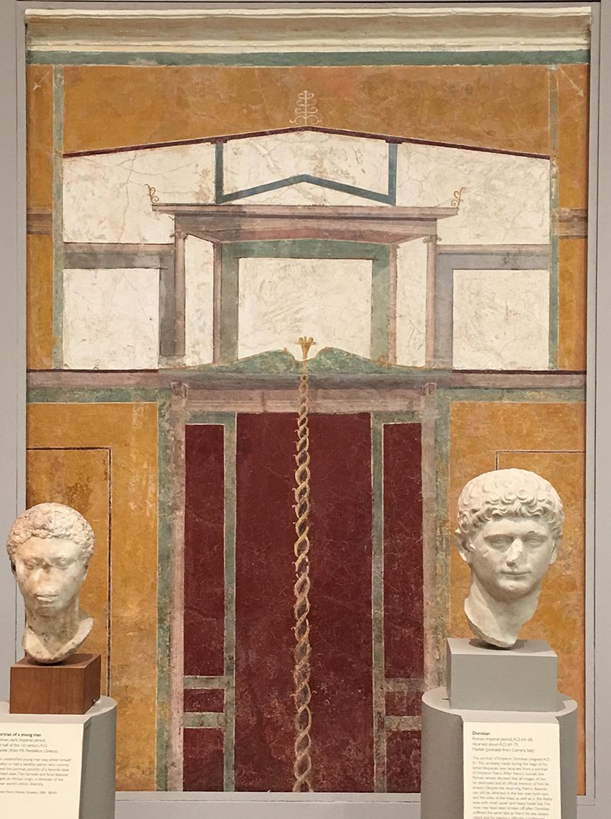 Fragment malowidła naściennego. Rzym 14-62 n.e. (Zbiory Museum of Fine Arts w Bostonie, fot. PP)