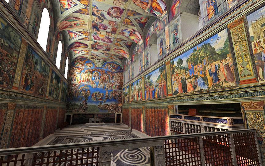 Kaplica Sykstyńska - szczyt osiągnięć w malarstwie jaskiniowym