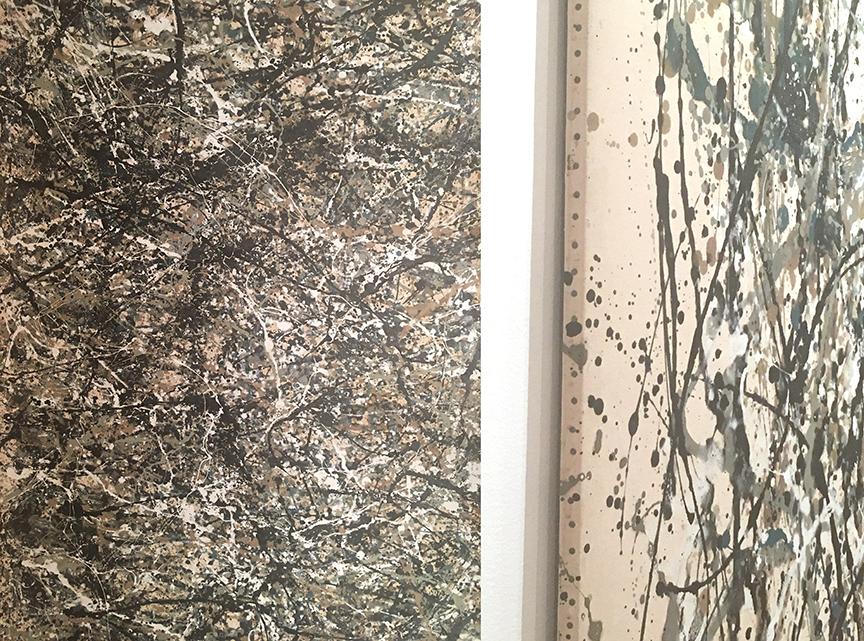 Środek oraz krawędź obrazu Jackson'a Pollock'a, MoMA, fot. PP