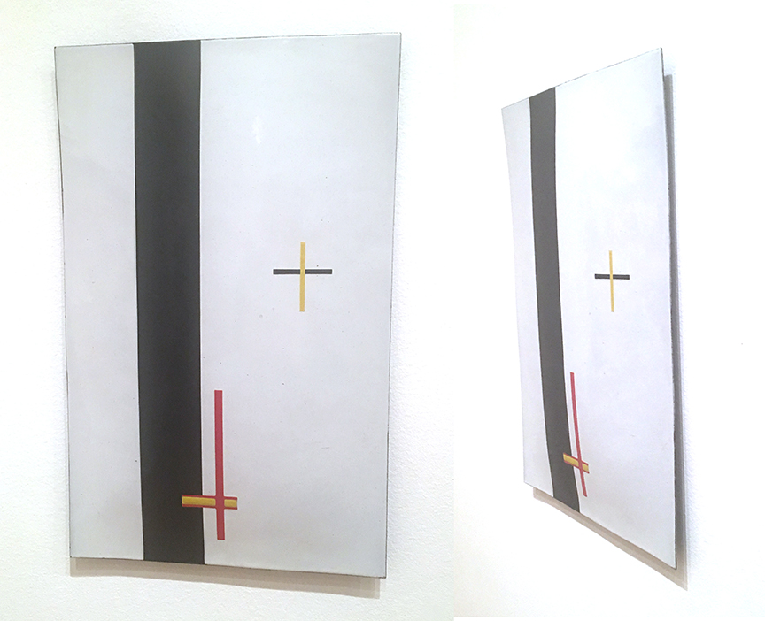 """Przykład cienkiego aczkolwiek znakomitego obrazu.László Moholy-Nagy """"EM2 (obraz telefoniczny)"""", enamel na stali, 1923,MoMA, fot. PP"""