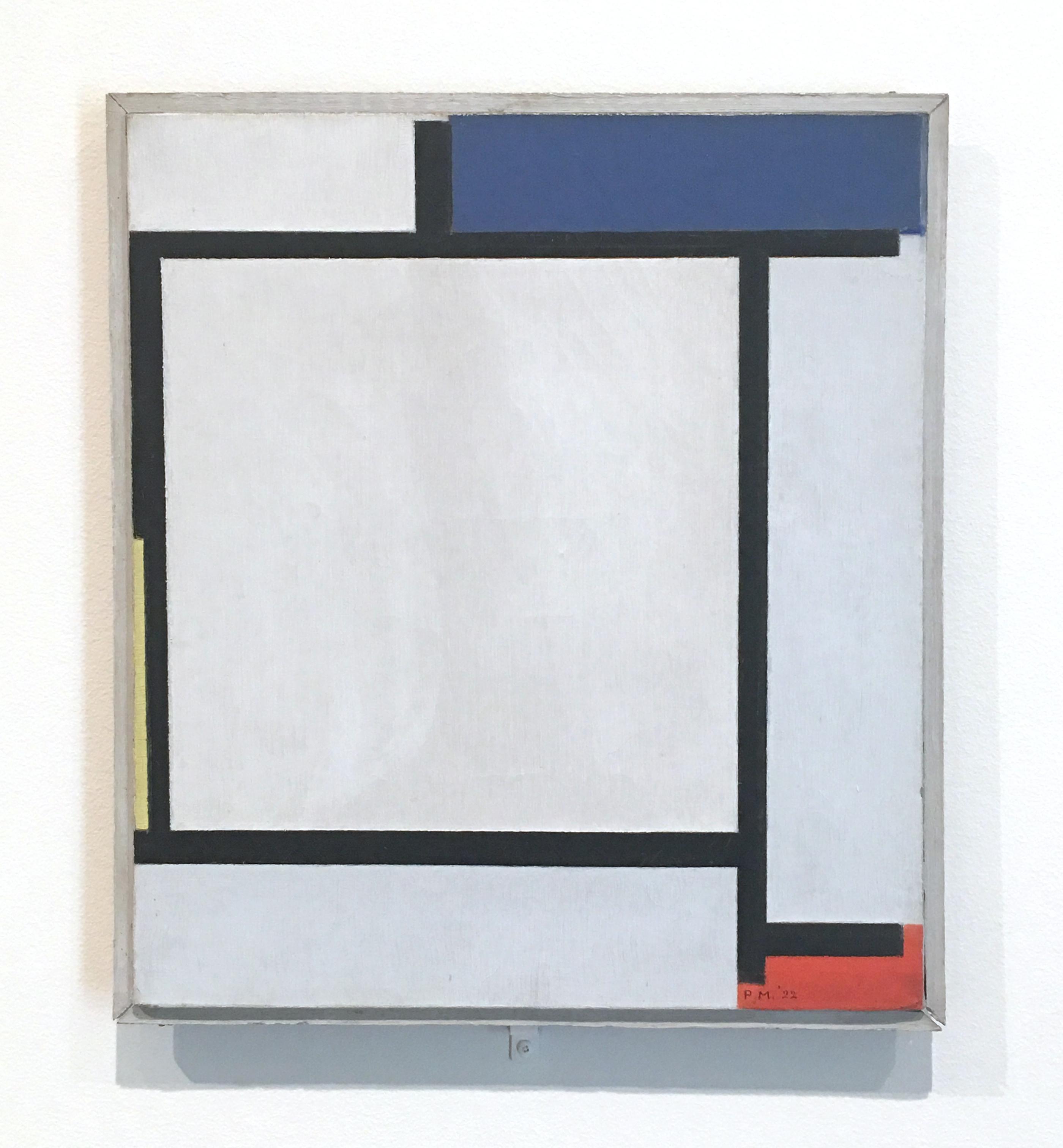 """Piet Mondriaan, """"Kompozycja z niebieskim, czarnym, żółtym i czerwonym"""", 1922, Zbiory Harvard Museum. Fot. PP"""