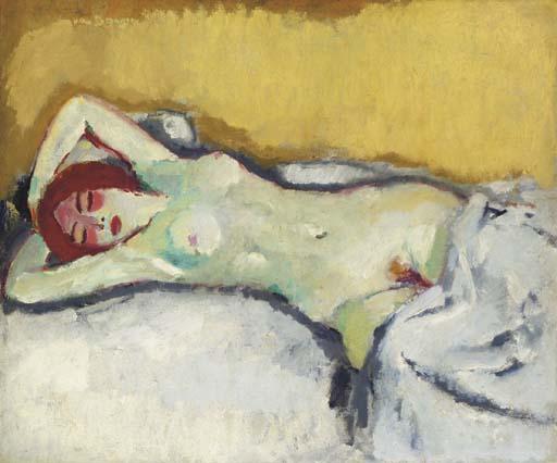 Kees Van Dongen, (1877-1968) Śpiąca, Mika naga na kanapie, 1908