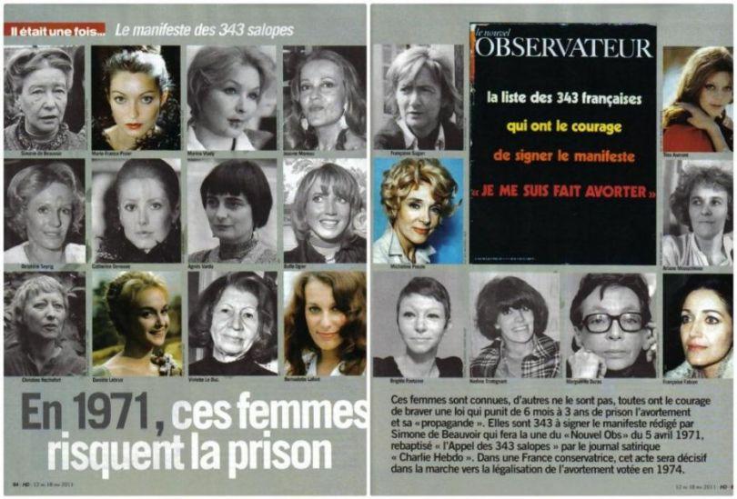 "Archiwum Nouvel Observateur z 2011 z okazji 40-lecia ""Manifestu 343"""