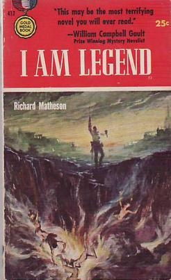 "okładka ksiażki ""I'm a legend"", Richard Matheson, wyd. Gold Medal Books, 1954"