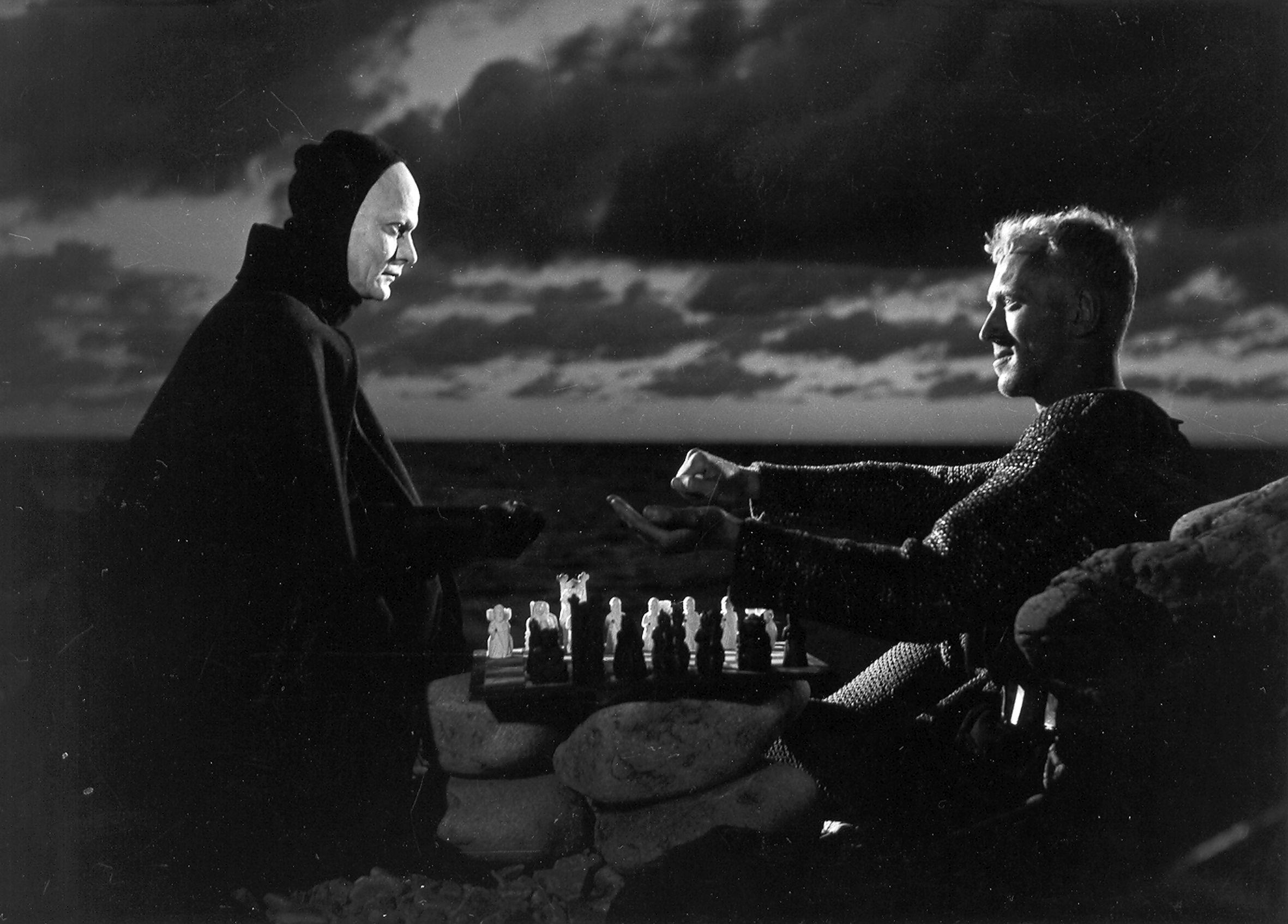 kadr z filmu SIÓDMA PIECZĘĆ | Det sjunde inseglet, 1957, reż. Ingmar Bergman
